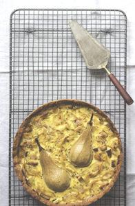 Zwiebelkuchen mit Birne